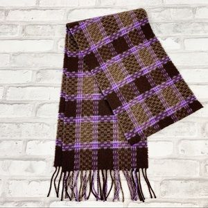 Paul Smith Unisex Plaid Lambswool Scarf